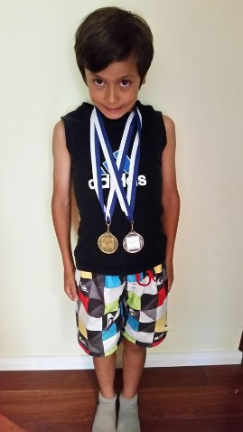 Zac CVSA gold & silver medals
