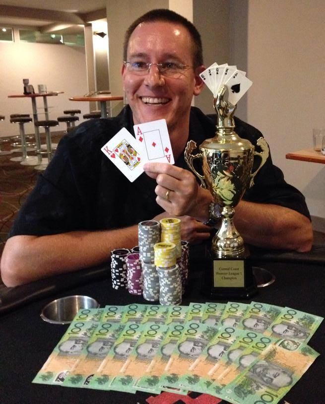 David Soede wins Central Coast Premier League NLHE tourney at Wyong Pub 2015