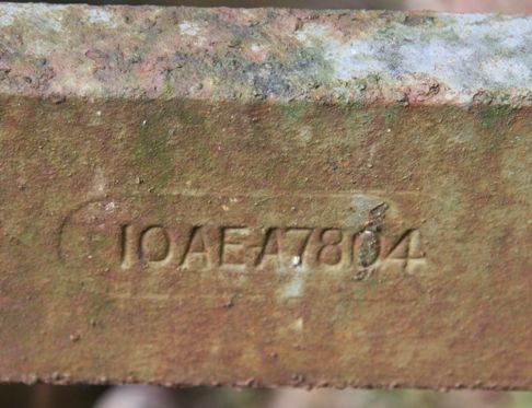 Plough serial number reads IOAEA7804
